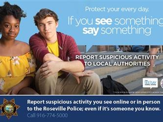 See Something, Say Something information for Roseville PD.